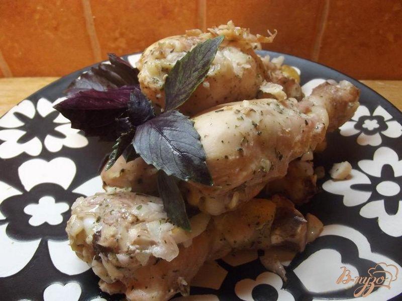 Фото приготовление рецепта: Куриные ножки в кефирном маринаде шаг №6