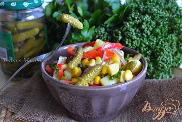 Рецепт Картофельный салат с корнишонами