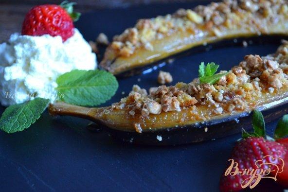Рецепт Банановые лодочки крамбль