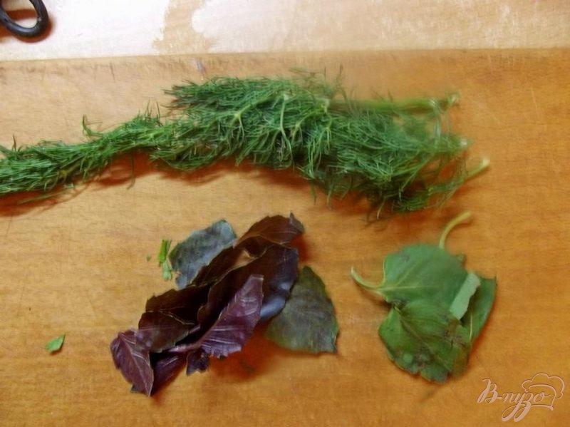 Фото приготовление рецепта: Салат с кинзой шаг №2