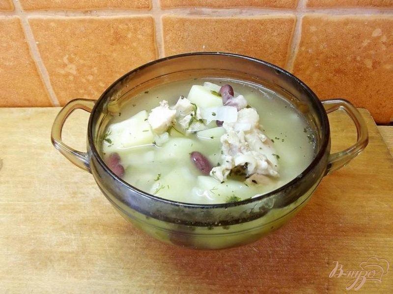 Фото приготовление рецепта: Суп с красной фасолью шаг №6