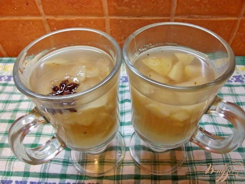Фото приготовление рецепта: Яблочный кисель шаг №4