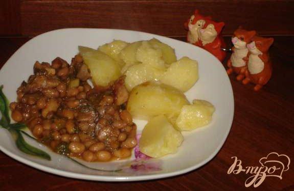 """Рецепт Свинина, тушеная с фасолью по рецепту сайта компании """"Винзер"""""""
