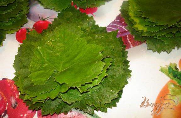 Фото приготовление рецепта: Заготовка на зиму листьев для долмы шаг №2