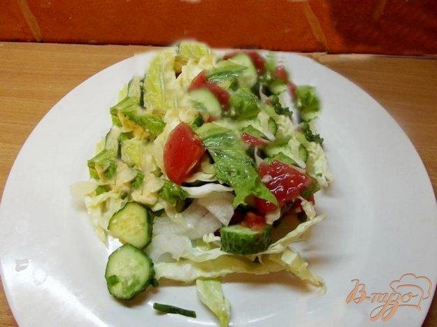 Рецепт Овощной салат с кунжутом