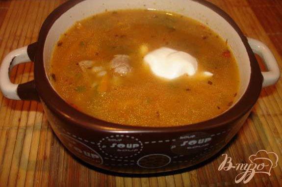 Фото приготовление рецепта: Суп А-ля Харчо шаг №4