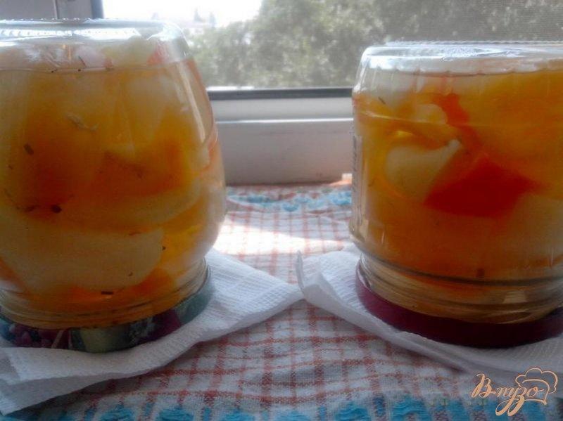 Фото приготовление рецепта: Маринованный болгарский перец шаг №6