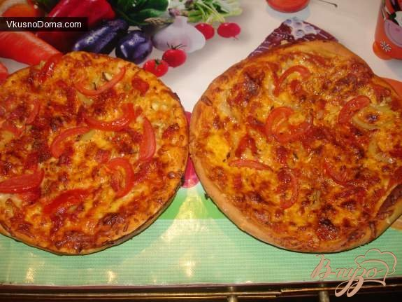 Рецепт Итальянская пицца с чрезо и моцареллой