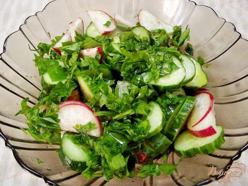 Фото приготовление рецепта: Салат с сельдереем шаг №5