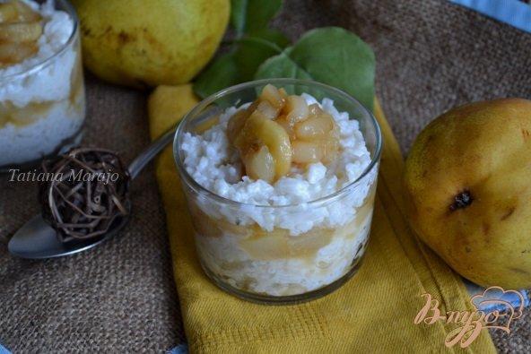 Фото приготовление рецепта: Молочный рис с карамелизированными фруктами шаг №4
