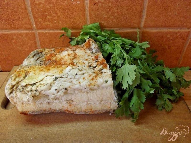 Фото приготовление рецепта: Сало в остром рассоле шаг №4