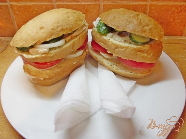 Рецепт Яичный сэндвич