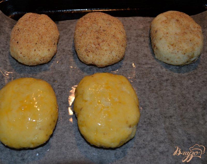 Фото приготовление рецепта: Картофельные зразы с печенью шаг №8
