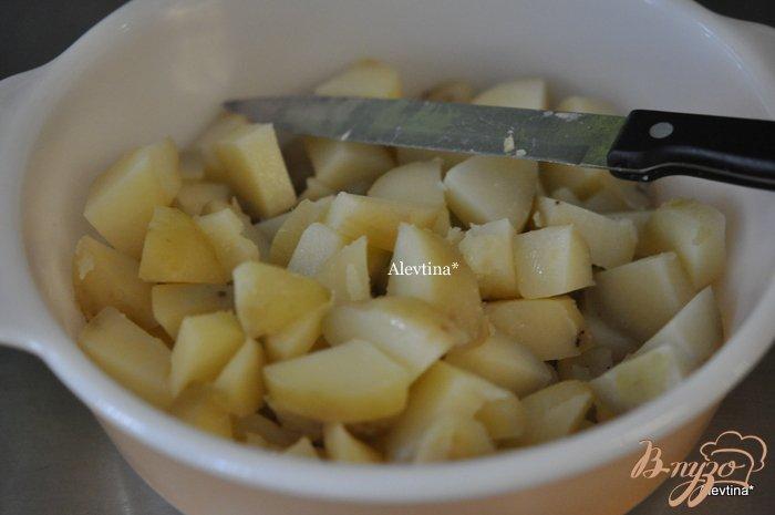 Фото приготовление рецепта: Средиземноморский  картофельный салат шаг №3