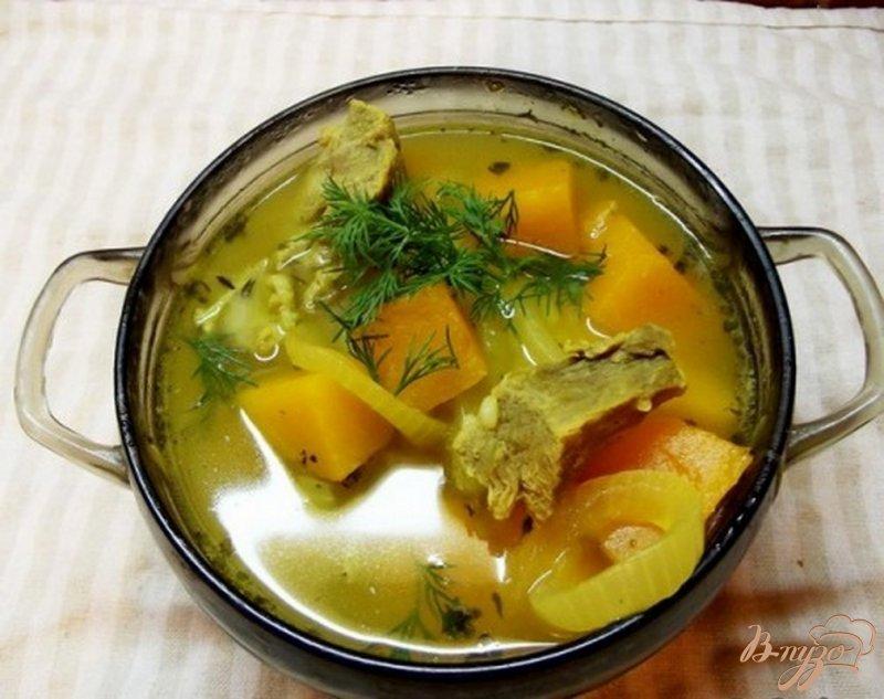 Фото приготовление рецепта: Суп из тыквы с маслом шаг №6