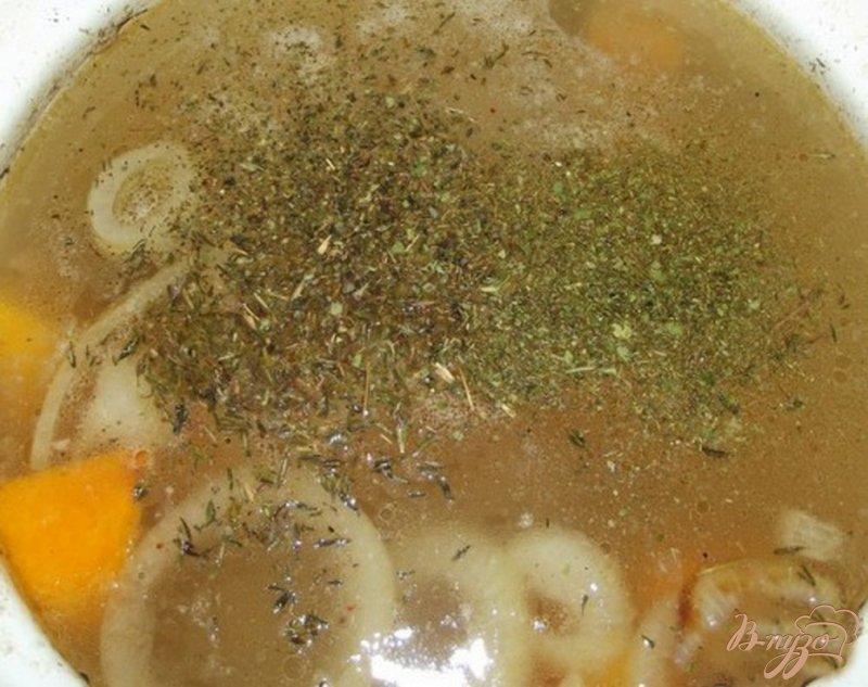 Фото приготовление рецепта: Суп из тыквы с маслом шаг №4