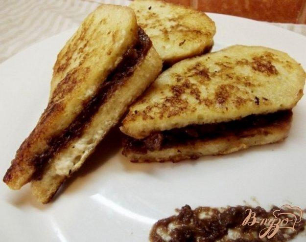 Рецепт Сладкие сэндвичи с ореховой пастой