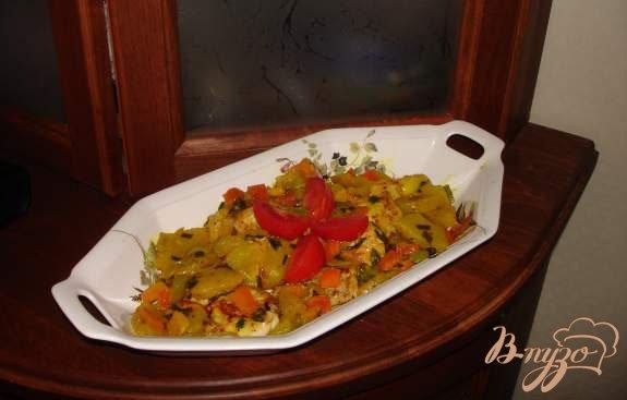 Рецепт Сочные медальоны из курины (индейки) с ананасом