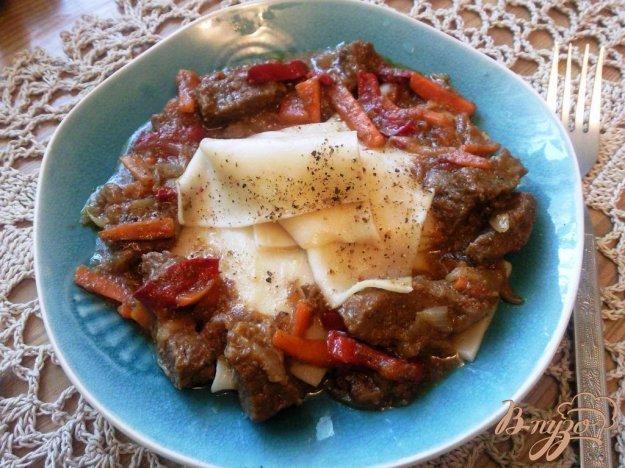 фото рецепта: Лагман с мясным соусом