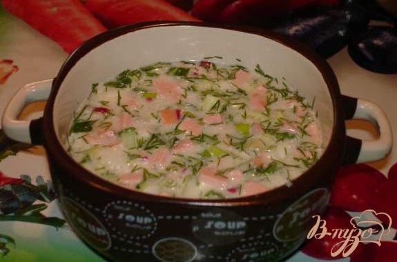 Фото приготовление рецепта: Окрошка по Южно-Сахалински шаг №8