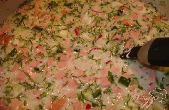 Фото приготовление рецепта: Окрошка по Южно-Сахалински шаг №7