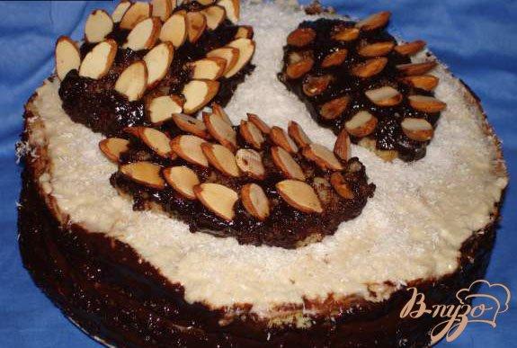 Фото приготовление рецепта: Ореховый торт