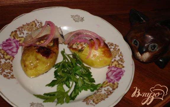 Рецепт Картофельные лапатушки с селедкой