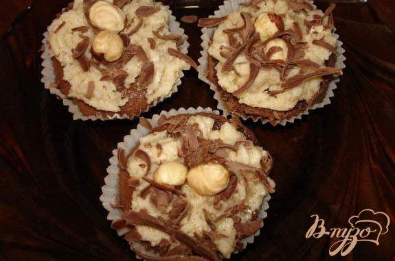 Рецепт Шоколадные маффины с кремом Тоффи