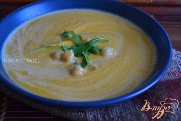 Рецепт Морковный суп-пюре с горохом нут