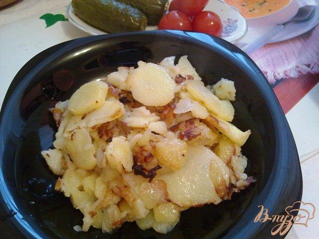 Фото приготовление рецепта: Жаренный картофель шаг №9