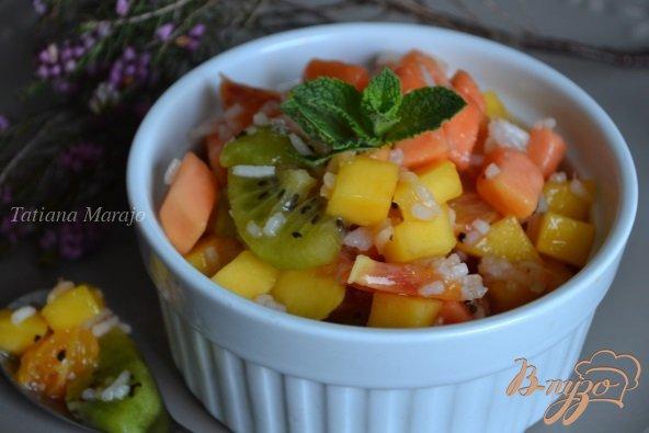 Рецепт Фруктовый салат с рисом