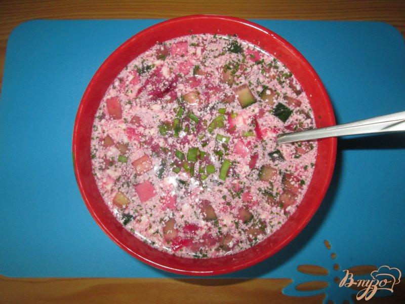Фото приготовление рецепта: Свекольник - холодный суп шаг №8