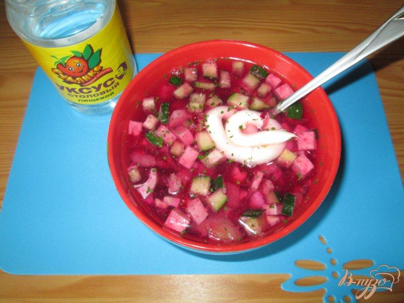 Фото приготовление рецепта: Свекольник - холодный суп шаг №7