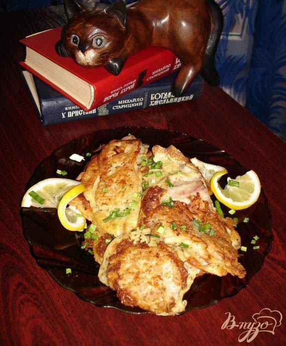 Фото приготовление рецепта: Морской окунь в кляре шаг №4