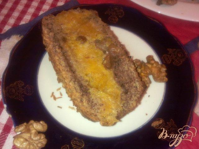 Фото приготовление рецепта: Ореховый кекс с тыквенной начинокй шаг №13