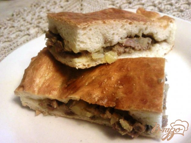 Рецепт Мясной пирог с грибами и картофелем
