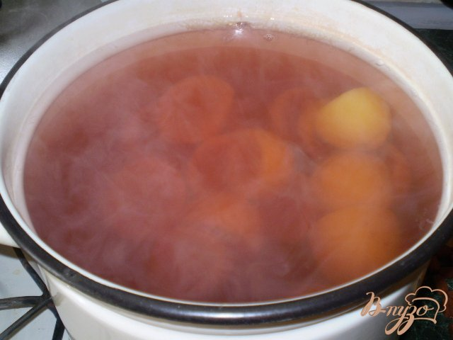 Фото приготовление рецепта: Лимонный компот с суданской розой шаг №3