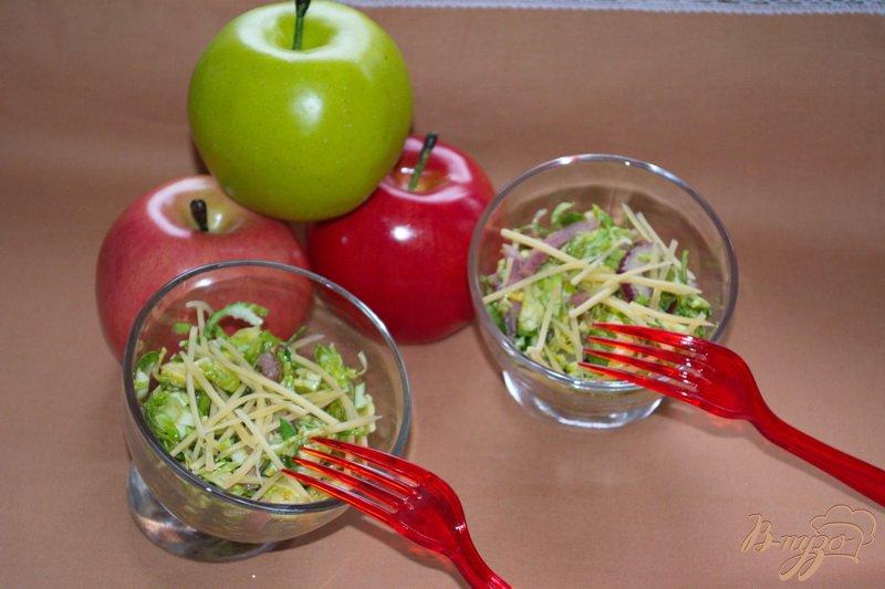 Фото приготовление рецепта: Салат с брюссельской капустой шаг №5