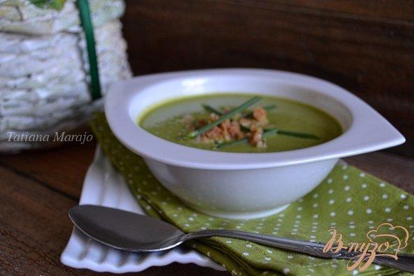 фото рецепта: Суп-пюре из горошка с каштанами