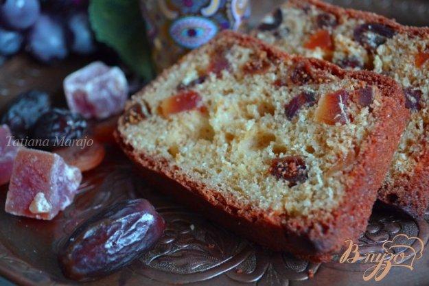 Рецепт Имбирный кекс с сухофруктами