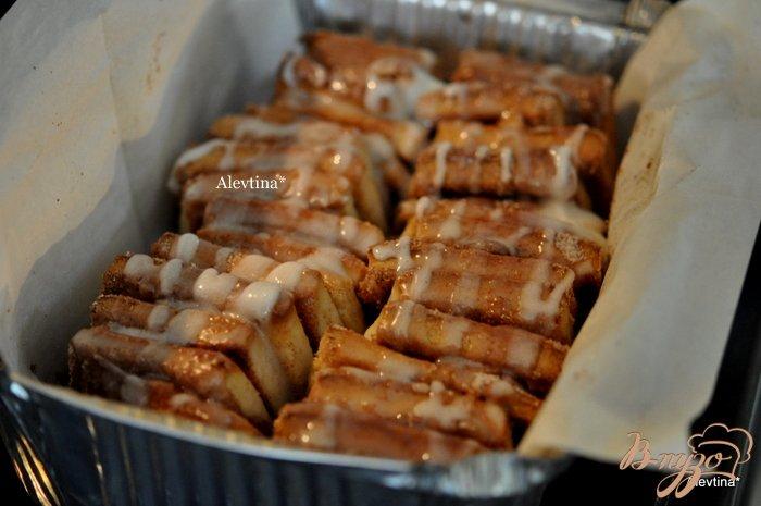 Фото приготовление рецепта: Сладкий десертный хлеб кусочками шаг №8