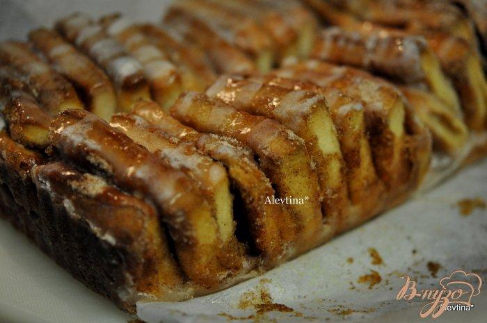 Фото приготовление рецепта: Сладкий десертный хлеб кусочками шаг №9