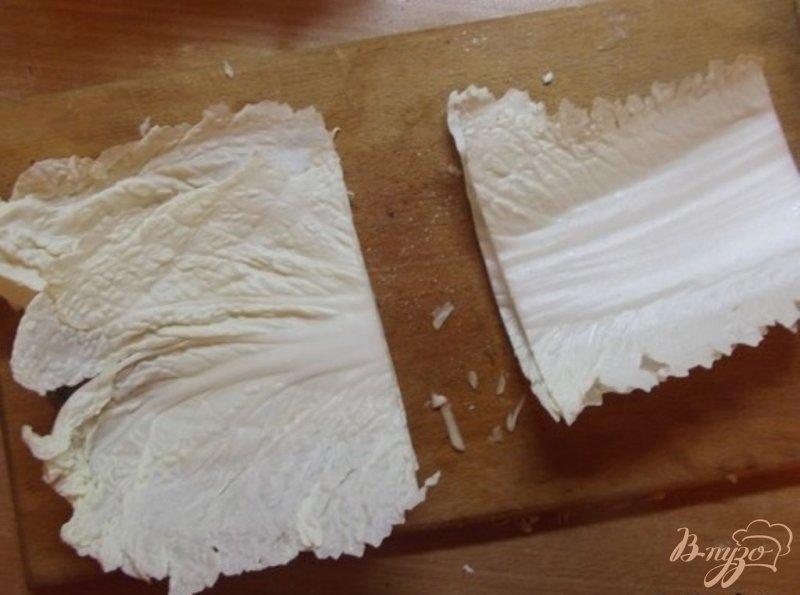 Фото приготовление рецепта: Овощной салат с теплым соусом шаг №4