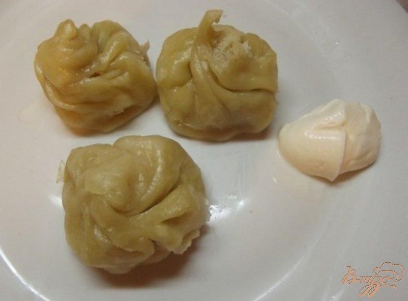 Фото приготовление рецепта: Хинкали с тыквой шаг №7