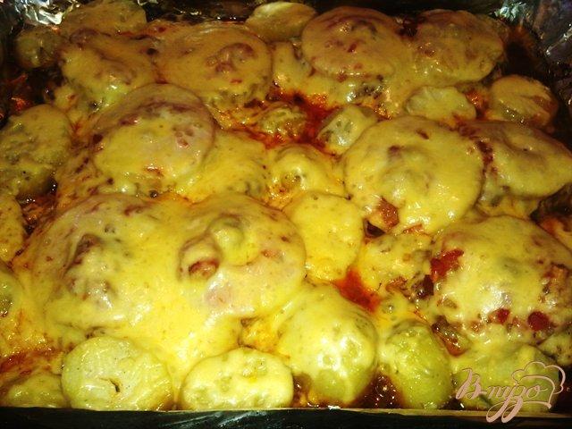 Фото приготовление рецепта: Свинина с ананасом в духовке. шаг №12