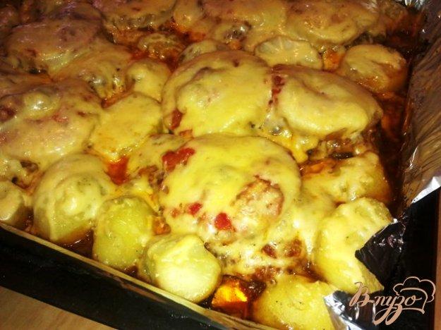 Рецепт Свинина с ананасом в духовке.