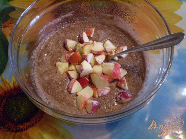 Манник с какао и яблоками