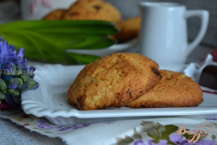 Фото приготовление рецепта: Кокосово-шоколадные коржики шаг №7