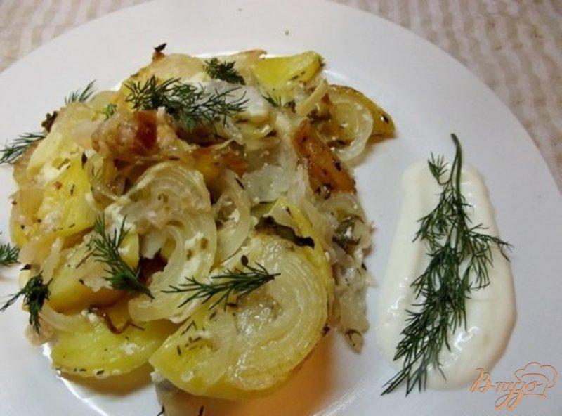 Фото приготовление рецепта: Нежный запеченный картофель шаг №8