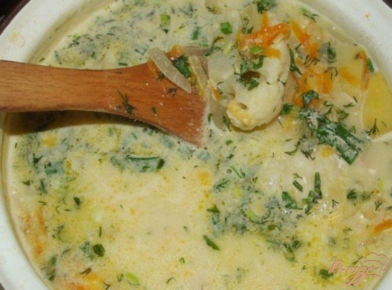 Фото приготовление рецепта: Сливочный суп с цветной капустой шаг №9